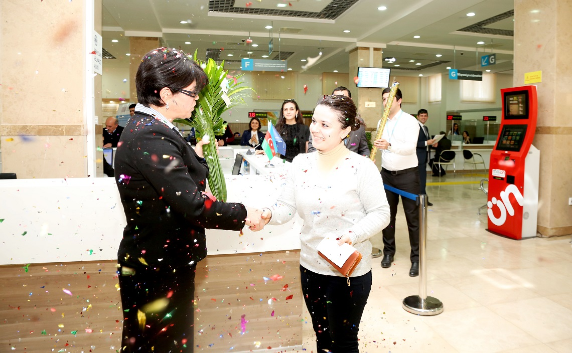 Millionth user of ASAN Service registered in Azerbaijan (PHOTO)
