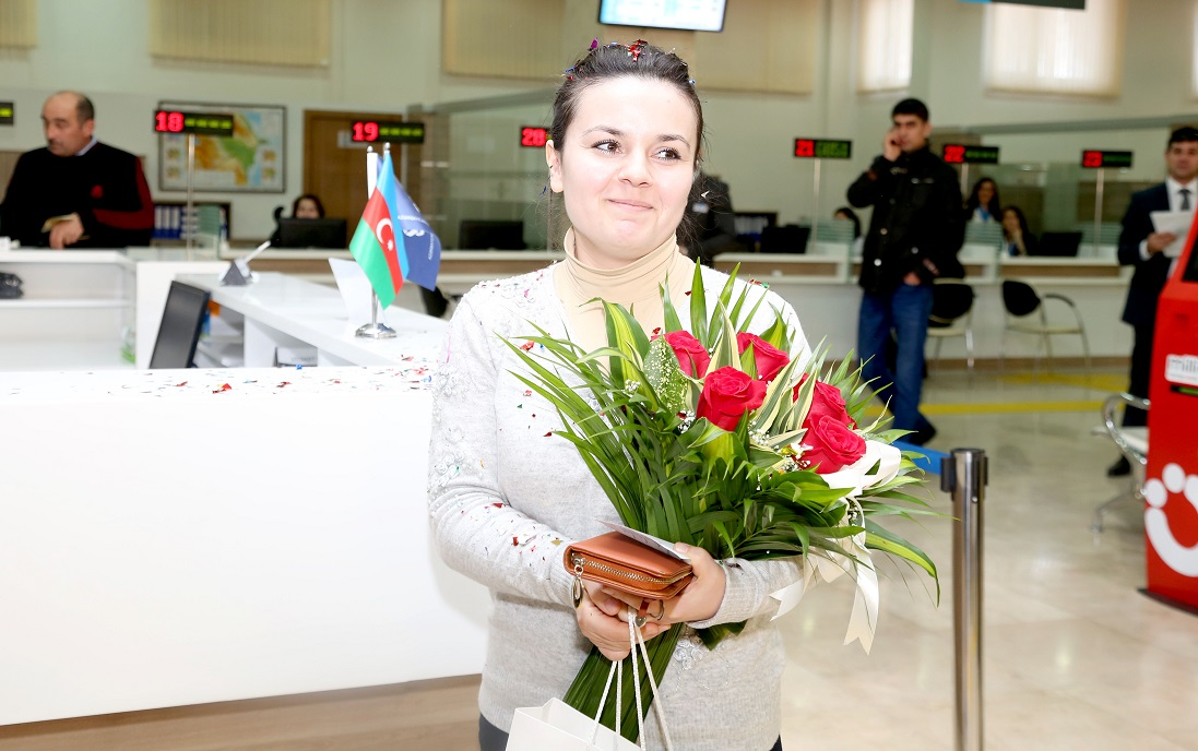 Millionth user of ASAN Service registered in Azerbaijan (PHOTO) - Gallery Image