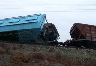 Freight cars derail in north-west of Azerbaijan