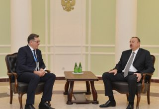 Azerbaijani President meets Lithuanian Prime Minister in Sochi (PHOTO)