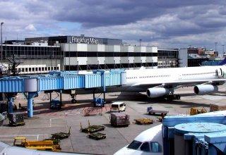Frankfurt airport terminal shut down over man threatening police