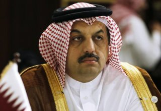 Qatar Foreign minister meets Syrian head of opposition