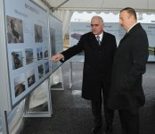Azerbaijani president observes construction, public services implementation in Boyukshor - Gallery Thumbnail