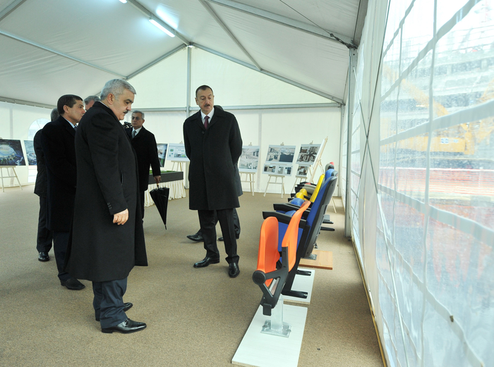 Azerbaijani president observes construction, public services implementation in Boyukshor - Gallery Image