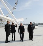 Azerbaijani president and his spouse attend opening of modern amusement ride in Baku - Gallery Thumbnail