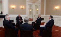 Президент Азербайджана обсудил с сопредседателями МГ ОБСЕ текущее состояние переговоров по урегулированию нагорно-карабахского конфликта (ФОТО) - Gallery Thumbnail