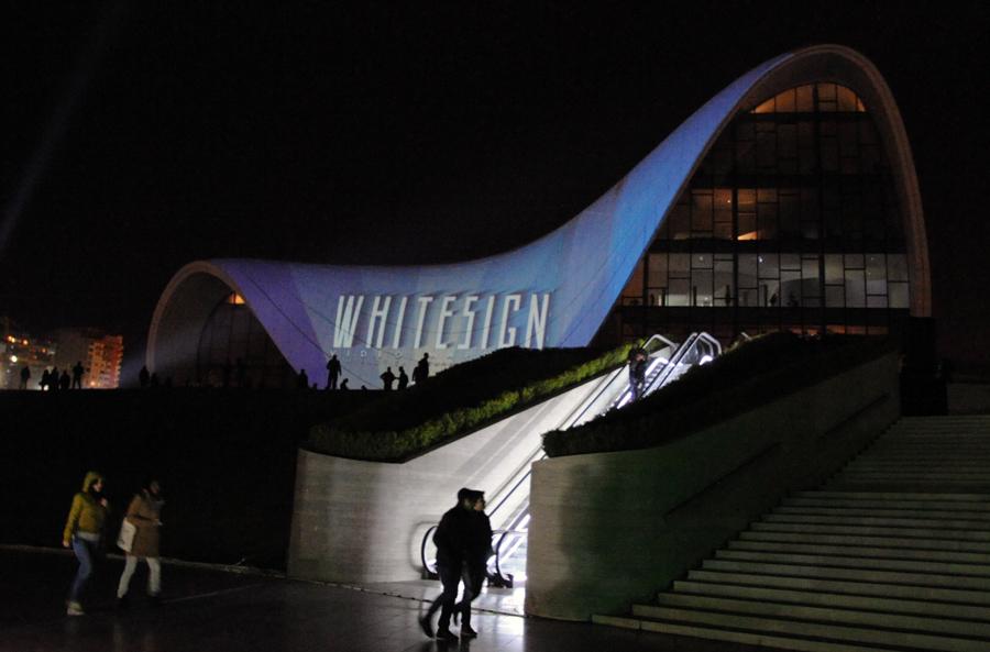 Состоялся видео-мэппинг здания Центра Гейдара Алиева, отражающий историю и культуру Азербайджана (ФОТО) - Gallery Image