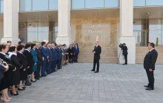 Президент Азербайджана принял участие в открытии Центра Гейдара Алиева в Агдаше (ФОТО) - Gallery Thumbnail