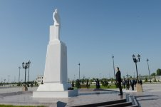 Azerbaijani president arrives in country's Agdash district - Gallery Thumbnail