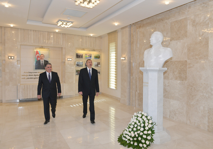 Ilham Aliyev attends opening of new building of Agdash District Executive Authority