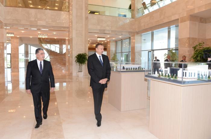 Президент Азербайджана принял участие в открытии Центра Гейдара Алиева в Агдаше (ФОТО)