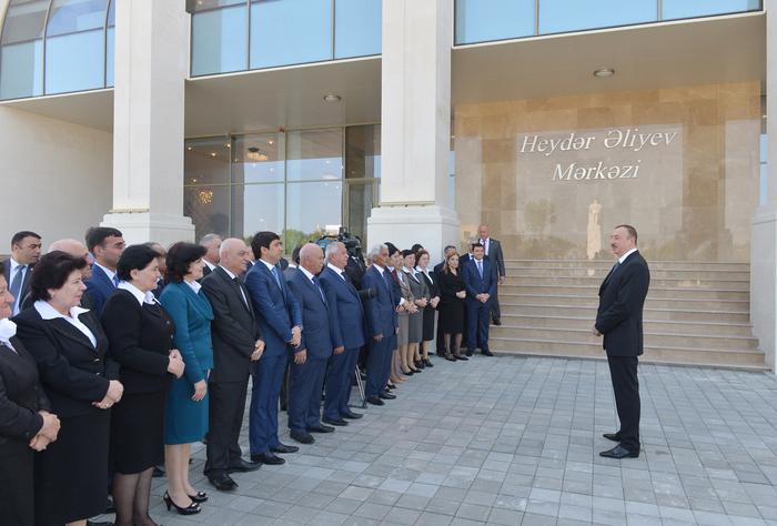 Президент Азербайджана принял участие в открытии Центра Гейдара Алиева в Агдаше (ФОТО) - Gallery Image