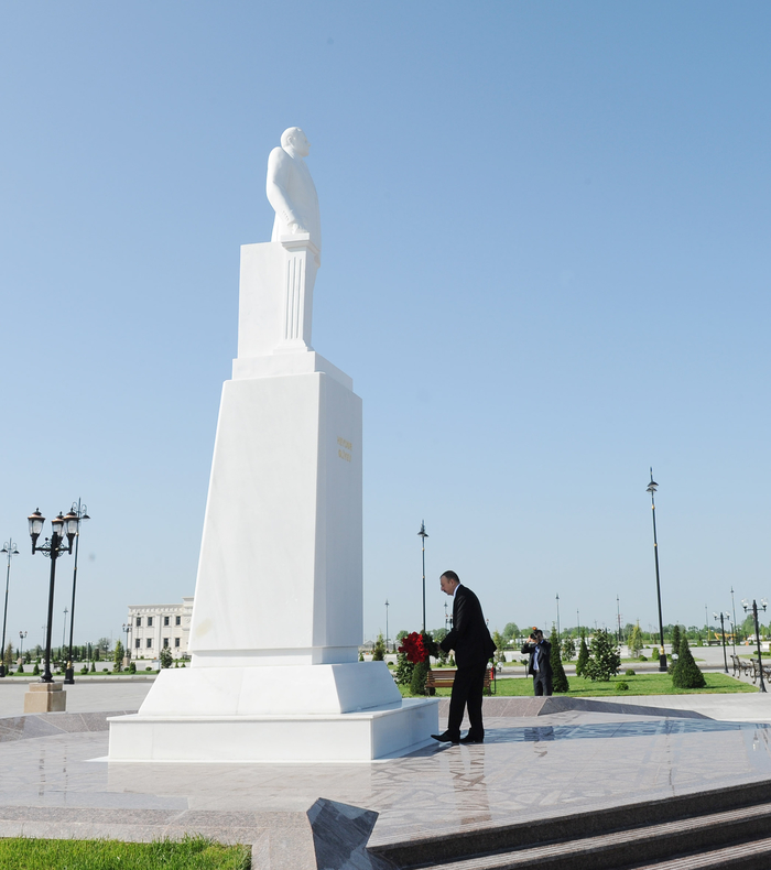 Azerbaijani president arrives in country's Agdash district - Gallery Image