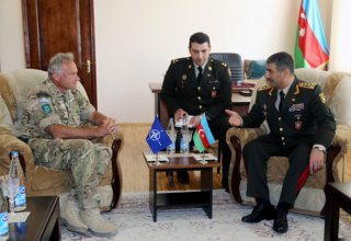 Defense Minister discusses regional military-political issues with NATO General