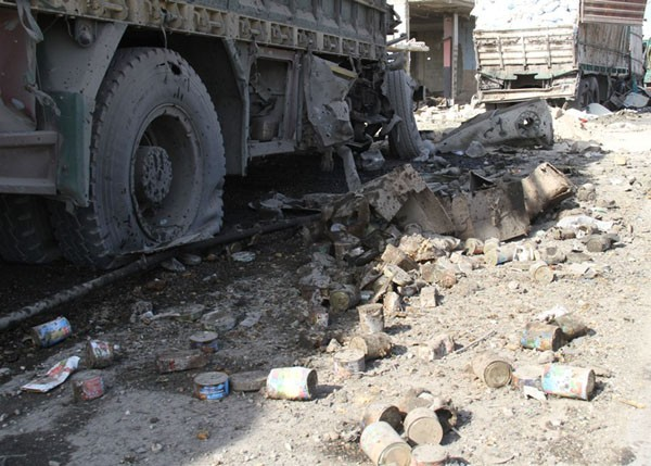 Syrian Air Force bombards Turkish aid convoy