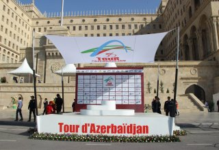 Tour d'Azerbaidjan-2014 cycle race last, fifth stage starts (PHOTO)