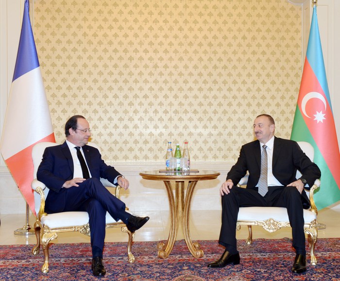 Azerbaijani, French presidents meet at Elysee Palace in Paris