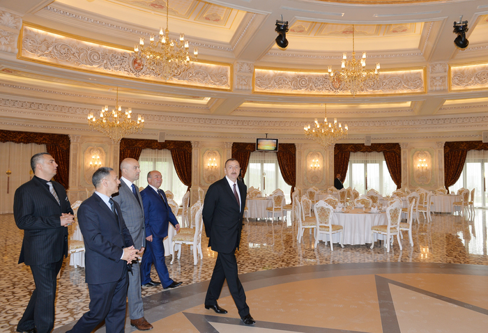 Azerbaijani president attends opening of five-star hotel in Shamakha district (PHOTO) - Gallery Image