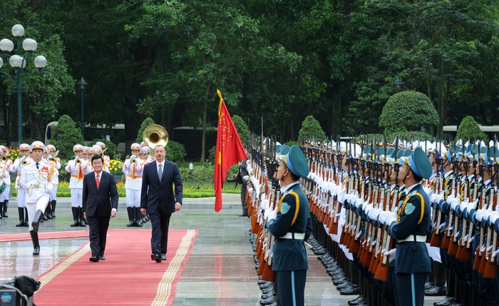 Vietnam hosts official welcoming ceremony for Azerbaijani President Ilham Aliyev (PHOTO) - Gallery Image
