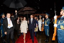 Azerbaijani president arrives in China on a working visit (PHOTO) - Gallery Thumbnail