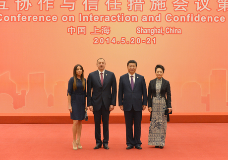 President Ilham Aliyev attended a reception in honor of heads of state and government in Shanghai (PHOTO)
