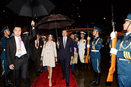 Azerbaijani president arrives in China on a working visit (PHOTO) - Gallery Image