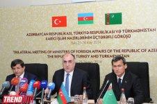 Azerbaijani, Turkish, Turkmen FMs adopt Baku Declaration (PHOTO) - Gallery Thumbnail
