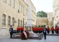 Ilham Aliyev visits memorial in honor of Azerbaijan Democratic Republic (PHOTO) - Gallery Thumbnail
