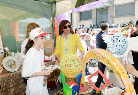 Azerbaijan's First Lady attends cultural events in Baku (PHOTO)