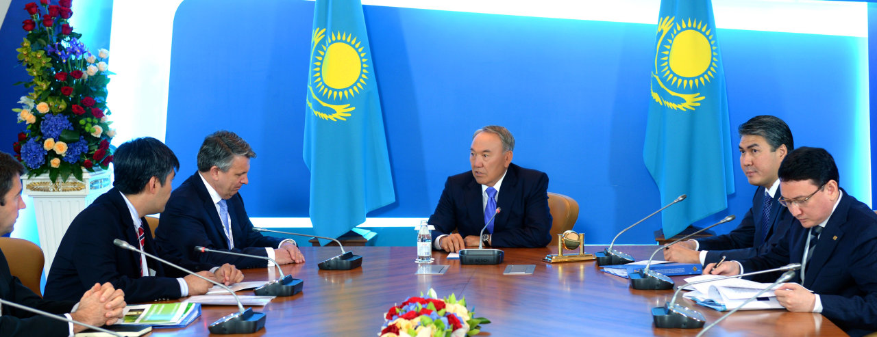 Kazakh president meets with head of Shell concern