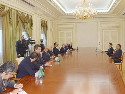 Azerbaijani president receives Speaker of Turkish Grand National Assembly