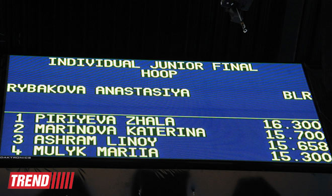 Azerbaijani gymnast wins 2nd place in individual performances with hoop (PHOTO) - Gallery Image