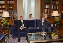 President Ilham Aliyev held a one-on-one meeting with President of Greece Karolos Papoulias - Gallery Thumbnail
