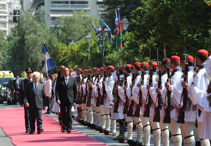 Official welcoming ceremony for President Ilham Aliyev was held in Athens (PHOTO)