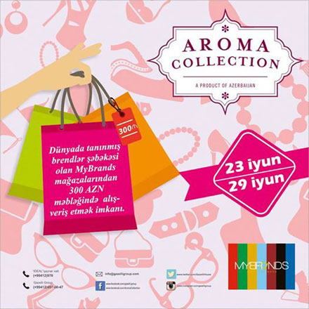 18 steps to beauty and 1 to gifts! AROMA COLLECTION summer campaign goes on