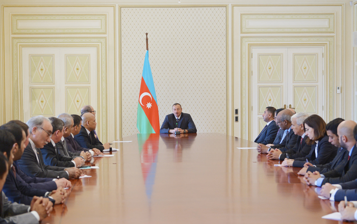 President Aliyev receives ambassadors, heads of diplomatic missions of Muslim countries - Gallery Image
