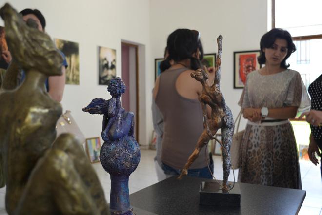 """В Барде состоялось открытие выставки в рамках """"Azerbaijan Art Festival - 2014"""" (ФОТО) - Gallery Image"""
