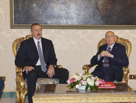 Meeting held between presidents of Azerbaijan and Italy