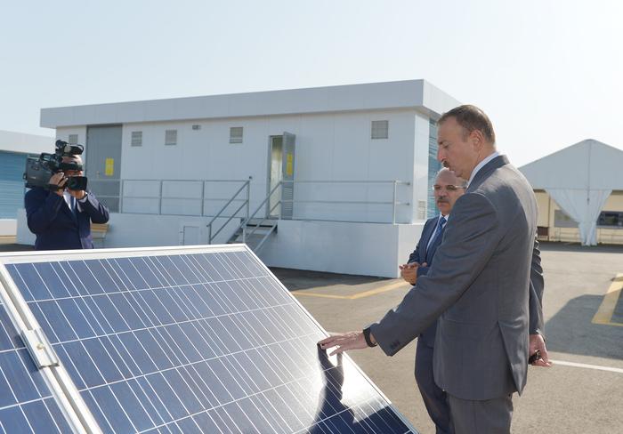Президент Азербайджана принял участие в открытии Сураханской солнечной электростанции (ФОТО) - Gallery Image