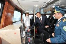 Prezident İlham Əliyev DSX-nin Sahil Mühafizəsinin yeni gəmi inşası zavodunun açılışında iştirak edib (ƏLAVƏ OLUNUB) (FOTO) - Gallery Thumbnail