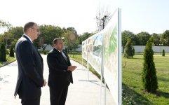 Azerbaijani president reviews reconstruction work at Heydar Aliyev Park in Khizi - Gallery Thumbnail