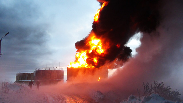Refinery bursts into flame in Turkey