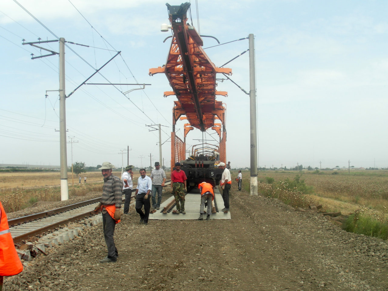 Azerbaijan starts overhaul at railway section westward (PHOTO) - Gallery Image