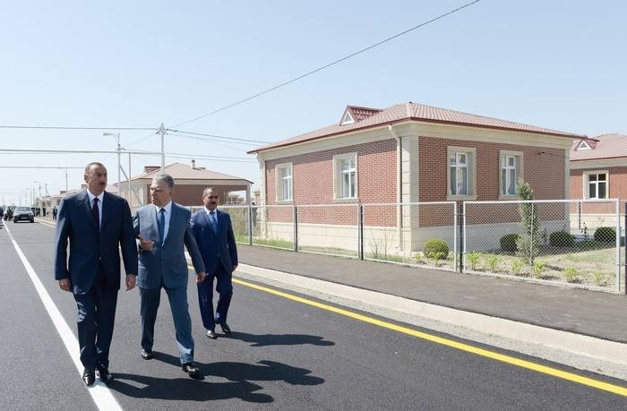 Azerbaijani president attends opening of new settlement for IDP families in Aghdam region