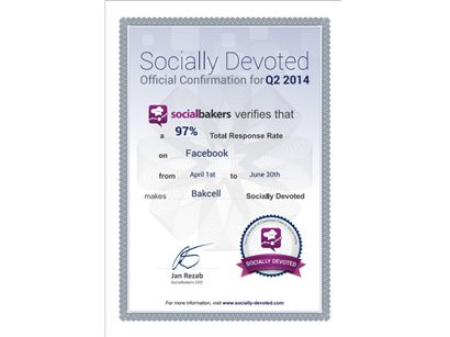 Bakcell - leader for number of responses to customer questions in social media