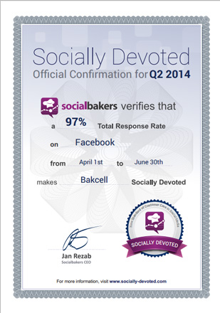 Bakcell - leader for number of responses to customer questions in social media - Gallery Image