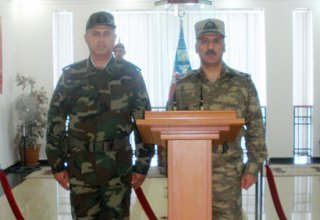 Commander of Azerbaijani Internal Troops observes combat readiness in military unit