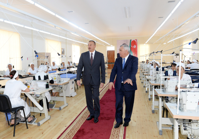 Azerbaijani president attends opening of garment factory in Horadiz city - Gallery Image