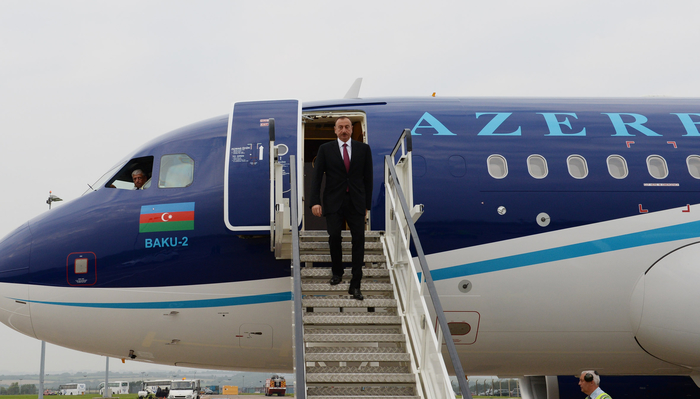 President Ilham Aliyev is on a working visit to the United Kingdom (PHOTO)