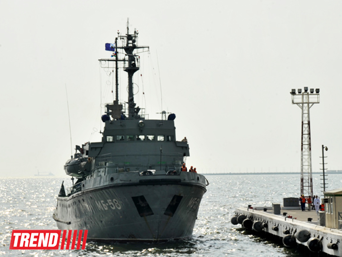 Kazakh, Russian navies work out tasks on protection of strategic sites in Caspian Sea
